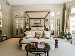 traditional master bedroom with recessed lighting u0026 transom window
