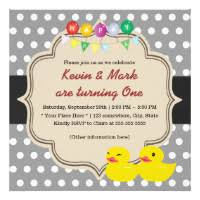 for twins baby shower party invitations