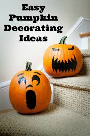 easy pumpkin decorating ideas without carving the pumpkin
