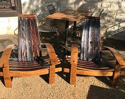 wine barrel chairs etsy