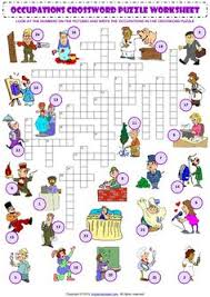 occupations crossword puzzle worksheet look at the numbers on the