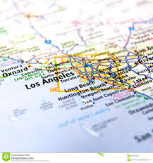 Map Of Los Angeles Cities by Los Angeles Area Map Stock Photo Image 42373800