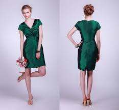 emerald green bridesmaid dress vintage bridesmaid dresses v neck sleeves taffeta
