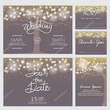 Marriage Invitation Card Sample Modern Wedding Invitation Cards U2014 Stock Vector Wongwichainae