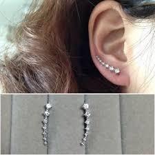 clip on stud earrings buy seven imitation diamond ear clip stud earrings