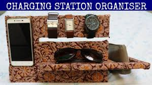 charging station organizer diy desk organizer youtube