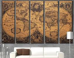 Map Wall Decor by World Map Wall Etsy