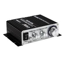 lepy stereo power car amplifier with power supply 3a power 20wx2