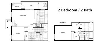 bed two bedroom two bath floor plans