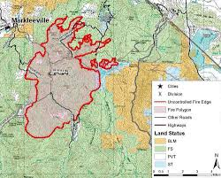 Wildfire Areas by Washington Fire Near Markleeville California U2013 Wildfire Today