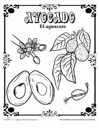 fruits and vegetables in spanish coloring pages education com