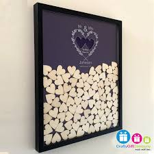 wedding guest book picture frame wedding heart drop box guest book including frame and hearts
