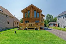 log house house of the week log cabin on saratoga lake times union