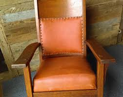 Mission Style Rocking Chair Vintage Oak Rocking Chair Etsy