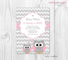 owls baby shower pink owl baby shower invitation baby girl owl pink and grey