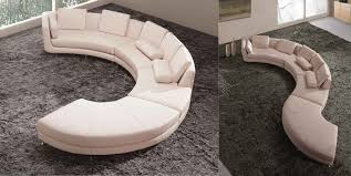 Curved White Sofa by Curved Sectional Sofa From Opulent Items Ihso00534