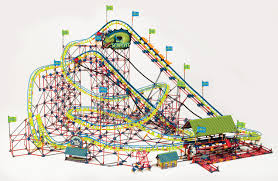 k u0027nex thrill rides son of serpent coaster 5 374 pieces ages