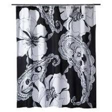 Target Paisley Shower Curtain - mudhut filigree shower curtain black white 72x72