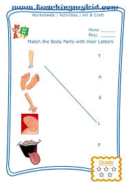 match the body parts with the first letter of their name archives