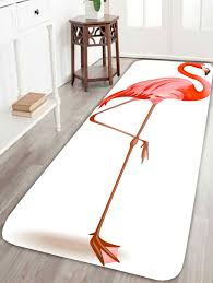flamingo large coral velvet area rug white w inch l inch in bath