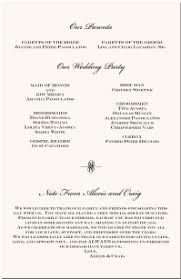 exle of wedding program order of service for wedding ceremony wedding ideas 2018