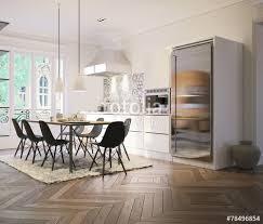 küche mit esstisch küche mit esstisch in altbau wohnung stockfotos und lizenzfreie