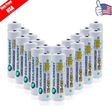 rechargeable aa batteries for solar lights 20x gle aa double a 1 2v nicd 1000mah rechargeable battery for solar