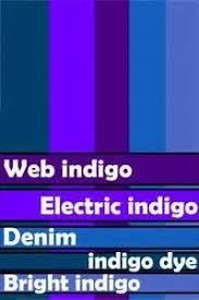 indigo color combining primary