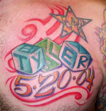 memorial tyler baby tattoo on chest