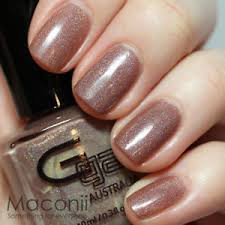 light brown nail polish glitter gal suede light brown beige holographic holo 3d