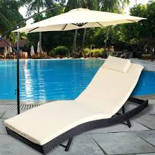 Grand Resort Patio Furniture Chaise Brookshire Folding Padded Chaise Lounge Grand Resort