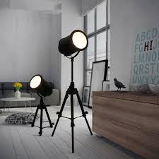 Standing Light Fixture Aliexpress Com Buy Vintage Loft Black Tripod Floor Lamp For