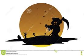 Halloween Silhouette Scary Warlock Halloween Silhouette Stock Vector Image 73303797