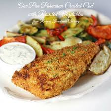 Roasted Vegetable Recipes by One Pan Parmesan Crusted Cod With Roasted Vegetables Recipes
