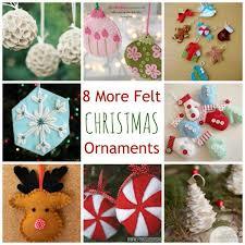 8 more felt ornaments felting