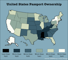 United States Travel Map by United States Passport Ownership 2 000 1 776 Mapporn