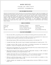 cio cover letter experience resumes