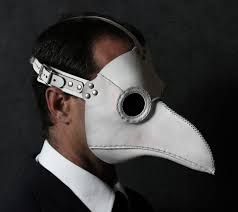 plague doctor s mask plague doctor s mask in white leather classic