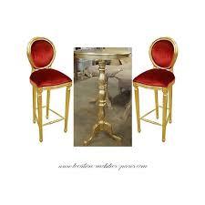chaise dor e chaise de bar velours et or