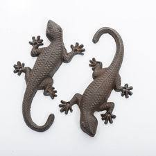 gecko iron garden ornaments ebay
