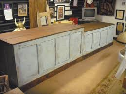distressed retail check out counter kitchen island bar desk