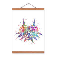 hanging posters without frames home room watercolor art paper mask print poster painting wall