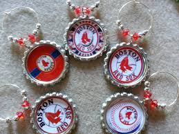 supplies 2 boston sox theme wine charms and gift sets