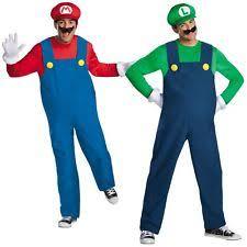 Mario Costumes Halloween Super Mario Costume Men Ebay