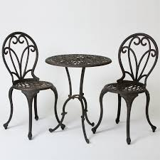 Wrought Iron Bistro Table Wrought Iron Bistro Set Bar Height In Serene Decorative Brown