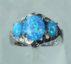 blue opal engagement rings get cheap blue opal engagement ring aliexpress