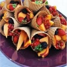 edible flower arrangement in the shape of an palm tree
