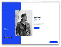 resume template website 15 best html5 vcard and resume templates for your personal