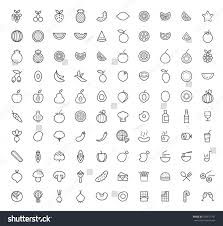 set 100 isolated minimal modern simple stock vector 426677701
