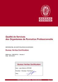 bureau qualité qualité de la formation référentiel bureau veritas